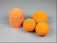 Hot sale zoomline concrete pump spare parts / accessories 4 inch medium soft rubber cleaning spong ball / bullet