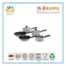 Hot new products for 2015 stainless steel sauce pot wmf cookware kitchen cookware pans with glass cookware