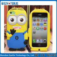 2015 Hotsale ! 3d silicon animal case for iphone 5c, for iphone 5c cover