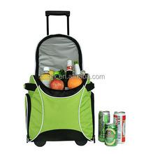 Big Size Nylon Waterproof Thermal Trolley Cooler Bag
