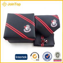 Black&red stripes men's handmade tie gift tie set