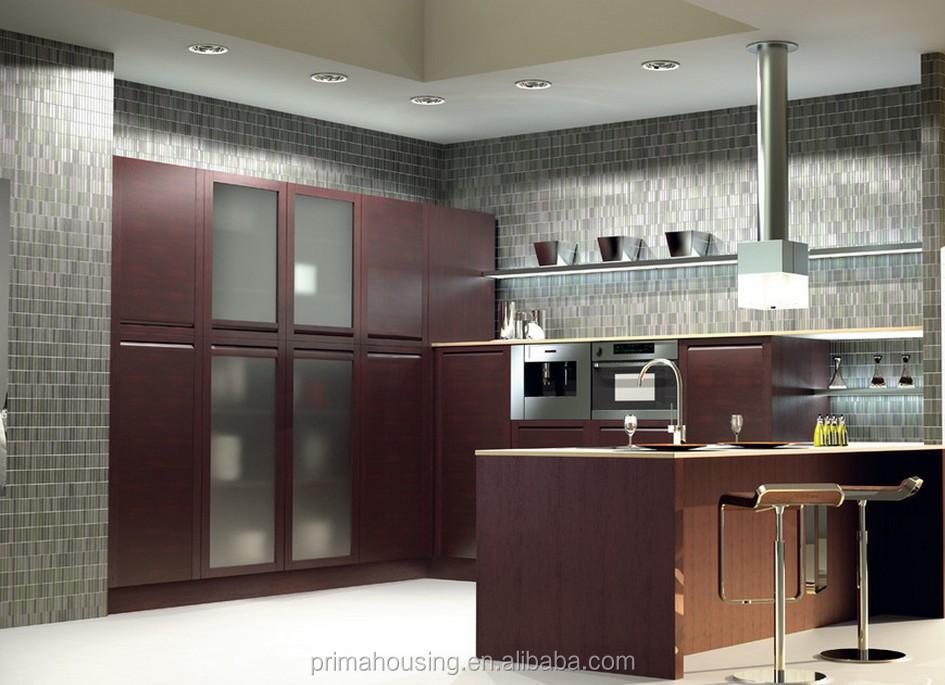 Flat pack kitchen cabinet timber veneer kitchen cabinet for Flat pack kitchen cabinets