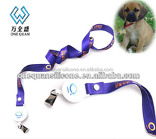 eco-friendly 100% silicone lanyard soft rubber for company tag