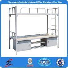 High Quality Modern Adult Kids Army School Hostels Steel Metal Bunk Bed with Lockers