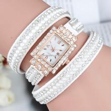 2015 new Korean square Roman numeral dial diamond bracelet Korean velvet diamond ladies quartz watches BWL015
