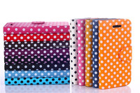 2015 Popular Cheap Perfect Polka Dot Pattern Mobile phone Leather Case For iphone 5C