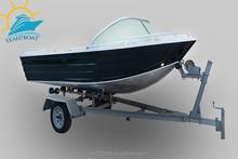 14ft CE Certification Aluminum fishing boat with windscreen and bimini