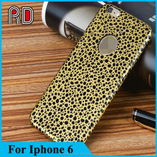 2015 Hot Selling Fashion Ultra thin Leopard pattern leather case for Iphone 6