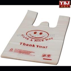 guangzhou ybj Disposable supermarket T-shirt shopping plastic bags
