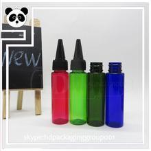 China manufacturer essential oil bottles PET e liquid 30ml PET PET bottles sharp caps 30ml with low price