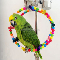 Parrot Pet Toys Cockatoo Parakeet Bird Swing Budgie Cockatiel Hanging Ferris For Pets New