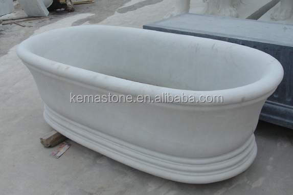 Vasca da bagno in marmo nero marquina, ovale vasca da bagno free ...