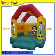 Hot sale factory price tent shape inflatable jump bouncer for kids for sale