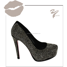 wholesale luxury rhinestone dress shoes for women