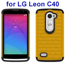 Bling Bling Diamond Silicone and PC Hybrid Case for LG Leon C40 Cell Phone Case