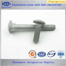 "ASTM A307 Gr.A 1"" Alloy Steel HDG Carriage Bolt"