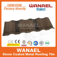 two diffrent mix color stone metal roof tile