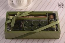 Cute custom wax packaging box with clear PET window