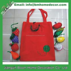 Cartoon Fruit Folding Tote Bag / Reusable Foldable Shopping Bag /Cartoon Foldable Shopping Tote Eco Reusable Recycle Bag