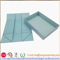 Custom order empty fancy luxury flat folding paper gift box CHV033