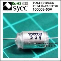 10000pF 50VDC Axial PSA 103J 50VDC Polystyrene Film Capacitor