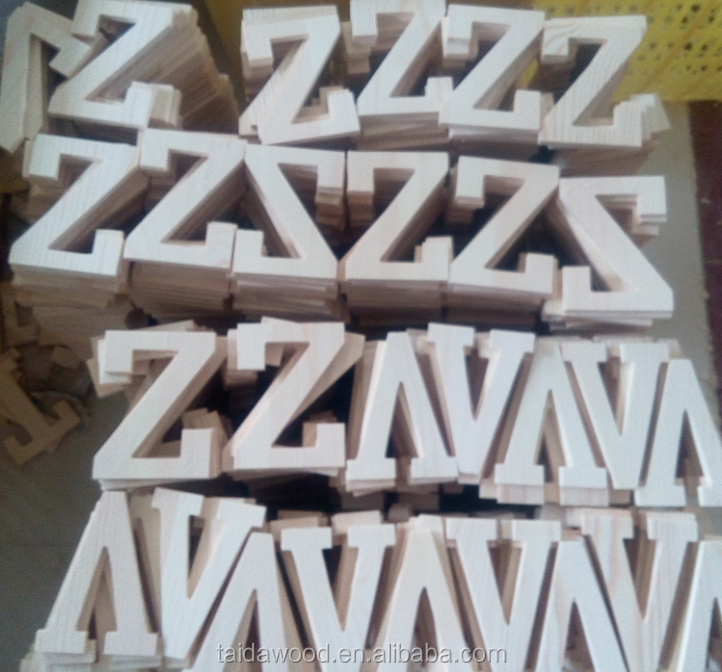 Wholesale solid wood christmas decorative wooden letters for Small wooden letters for crafts