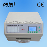 lead free reflow oven/automatic PCB ic soldering machine T-962a/bga machine/puhui/reflow station mini/soldering iron infrared