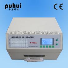 Piombo forno free riflusso/automatico pcb ic macchina di saldatura t-962a/bga macchina/puhui/reflow stazione mini/saldatore a raggi infrarossi