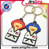 Hand made cheap custommade custom cartoon 3d pvc keychain