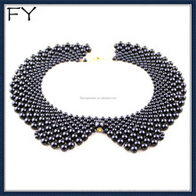 2014 Hot Sales Plastic Round Beads Black Collar Necklace For Women Party