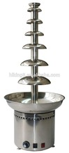 Luxury 7 Tiers Commercial Chocolate Waterfall Fountain