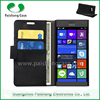 Wholesale free shipping lychee pattern leather wallet flip cover case for nokia lumia 730