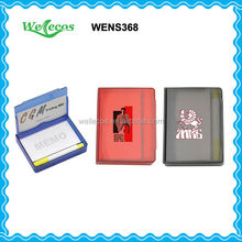 Custom Promotional Plastic Sticky Notes with Ballpen