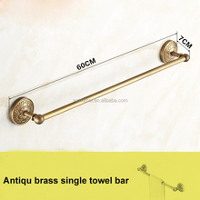 Sanitary ware antique brass single towel bar