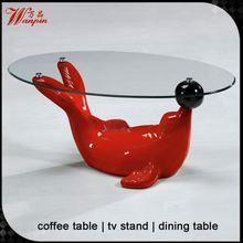 animal glass coffee table animal coffee table with dolphin shape base