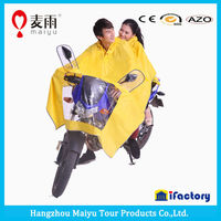 double hoods women and men poncho for motocycle