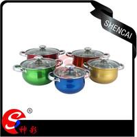Glass Lid Stainless Steel kitchen Cooking Pot Set/Casserole Set/Cookware Hot Pot