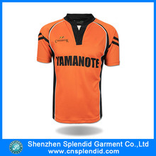 China wholesale facorty fashion sublimation yellow blue soccer jersey