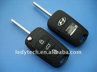 High quality Hyundai 3 button flip remote car key shell& key blank& key case & key cover