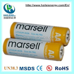 non-rechargeable lithium 1.5v r6 aa size battery