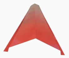 roof tile ridge cap galvanized roof ridge tile, glazed tile pressure plate