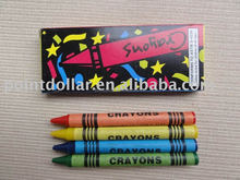 Non-Toxic crayons 4 pack, wax crayons for kids