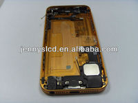 Cellphone back cover for iphone 5G gold with small parts