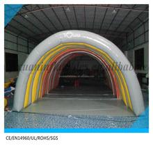 Túnel tienda inflable tienda precio / grande inflable exterior venta