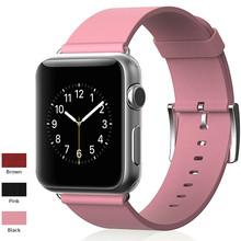 Stouch excelente calidad banda de reloj de cuero genuino Apple para Apple Watch, Fashion Color fuerte correa de reloj para iWatc