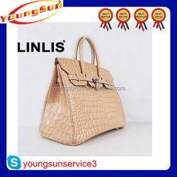 New design genuine crocodile print leahter handbag many size for choose