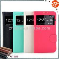 Slim Premium Leather Case Smart View Window Flip Cover Protective Case for Samsung Galaxy I909