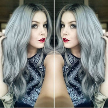 Large Stock Top Quality 20 Inch 100% Human Hair Brazilian Hair Grey Curly Hair Wigs