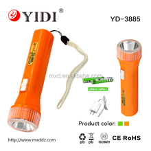 1W Cheap AAA battery plastic Lithium battery flashlight for sale