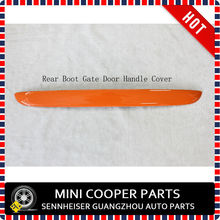 Brand New ABS Plastic Material UV Protect Mini Ray Style Orange Color Boot Gate Handle Cover For mini cooper R56(1 Pcs/set)